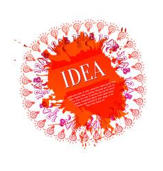 artistic idea concept vector image