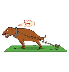barking dog never bite vector image