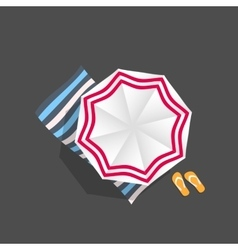 Beach Umbrella Icon vector image
