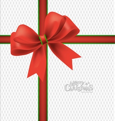 Christmas bells bow background vector image vector image