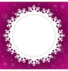 Circle purple background new year snow snowflake vector