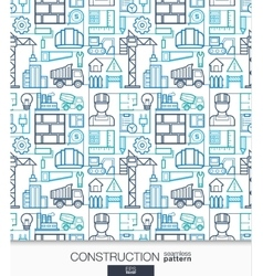 Construction wallpaper Build connected seamless vector image vector image
