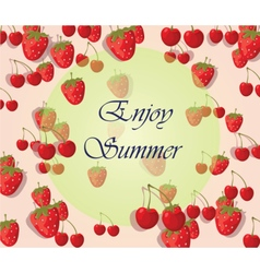 Enjoy Summer background with fruits vector image vector image