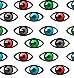 Eyes seamless vector image vector image