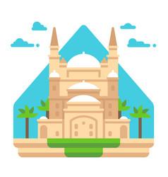 Flat design mosque of muhammad ali vector
