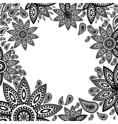 Frame of indian flowers vector