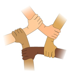 Hands of different races vector image