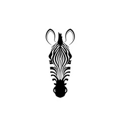 logo with the head of a zebra vector image vector image
