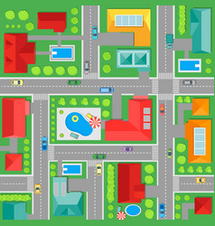 Map of town top view background pattern vector