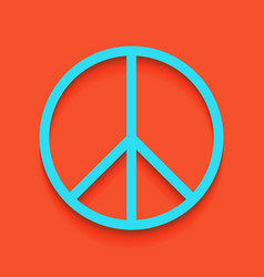 Peace sign whitish icon on vector