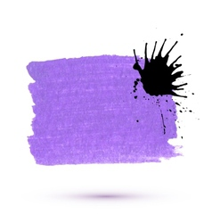 purple marker stain with ink blob vector image vector image