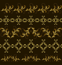Set gold border vector