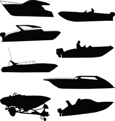 Various speedboats vector image vector image