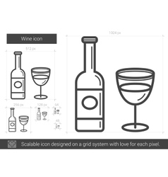Wine line icon vector