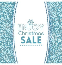 Winter sale doodle seamless pattern like lace vector image vector image
