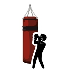 Implement of boxing sport design vector