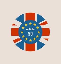 britain and european union relationships brexit vector image