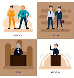 People in court square composition vector