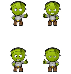 Monster Thumbs Up vector image