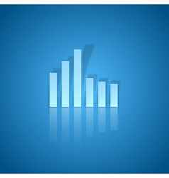 Business graph blue vector