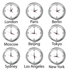 world hours vector image
