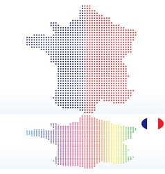 Map of french republic france with with dot vector
