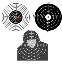 set targets for practical pistol shooting vector image