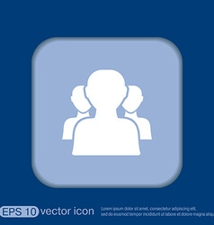 Silhouette of a men social media vector
