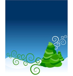 Ornate christmas tree vector