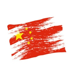 Color china national flag grunge style eps10 vector
