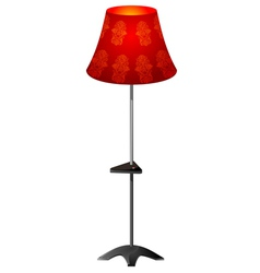 Red floor lamp vector