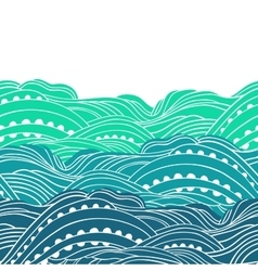 Three waves horizontal 2 vector