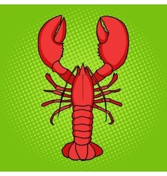 Lobster pop art style vector