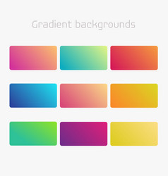 Abstract creative multicolored background set for vector