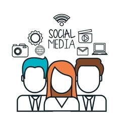 avatar group social media design isolated vector image vector image