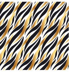 Black and gold wave in chick decorative style vector