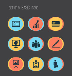 business icons set collection of payment vector image