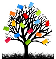 business tree vector image vector image