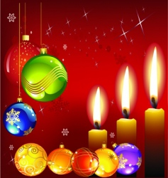 Christmas and candle vector image
