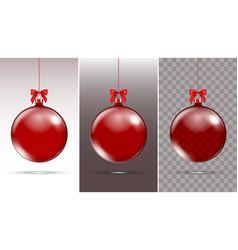 christmas glass ball xmas decoration vector image vector image