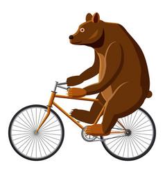 Circus bear icon cartoon style vector