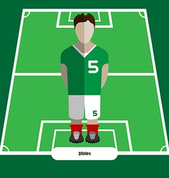 Computer game iran football club player vector