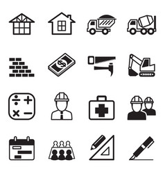 Construction icon set 3 vector