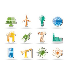 energy and electricity objects vector image vector image