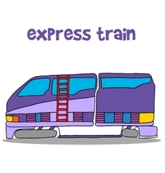 Express train cartoon vector