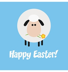 Happy easter background with a sheep vector