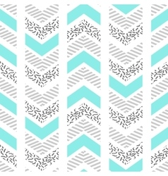 Herringbone abstract seamless pattern in memphis vector