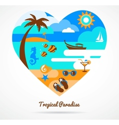 I love tropical paradise vector image