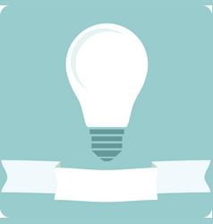 icon light bulb lamp vector image