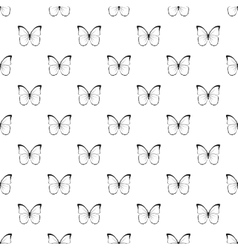 Insect butterfly with white black wings pattern vector